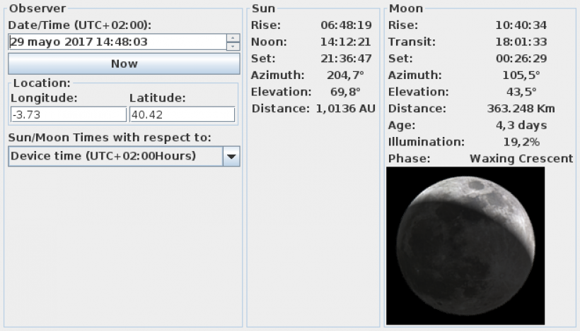 Accurate and fast Sun/Moon ephemerides suitable for Android (and iOS